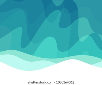 Northern lights, Vector abstract background. Banner of aurora borealis. Neutral Backdrop with white band bottom.