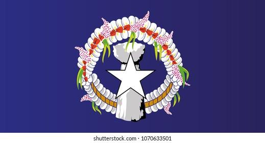 Northern Mariana Islands national flag. Commonwealth of the Northern Mariana Islands vector illustration symbol.
