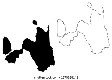 Northern Mindanao Region (Regions and provinces of the Philippines, Republic of the Philippines) map vector illustration, scribble sketch Region X map