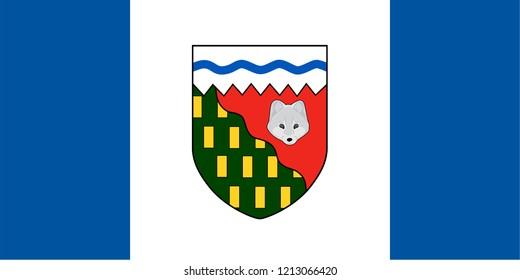 Northwest Territories vector flag. Canada