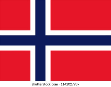 Norway Country Flag Illustration Design