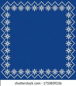 Norway Festive Border Fairisle. Seamless Knitting Pattern.