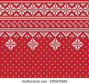 Norway Festive Jacquard Fairisle Wool Seamless Knitting Pattern