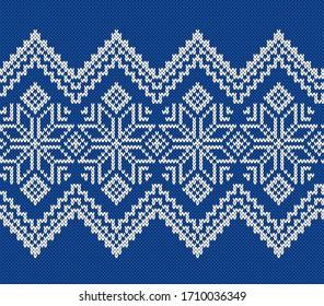 Norway Festive Jacquard Fairisle Wool Seamless Knitting Pattern.