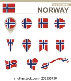 Norway Flag Collection, 12 versions