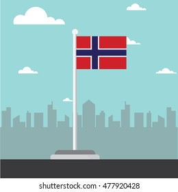 norway flag flat design vector