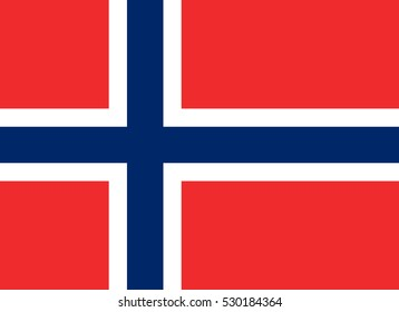 Norway flag, official colors and proportion correctly. National Norway flag. Flat vector illustration. EPS10.