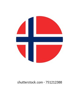 Norway flag, official colors and proportion correctly. National Norway flag. Vector illustration