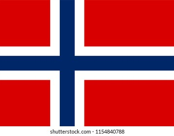 Norway flag vector icon, simple, flat design for web or mobile app