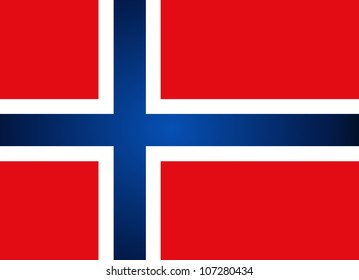 Norway Flag. Vector illustration.