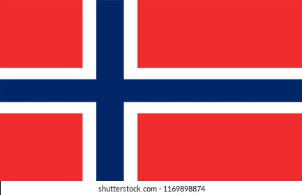 Norway Flag, Vector image and icon