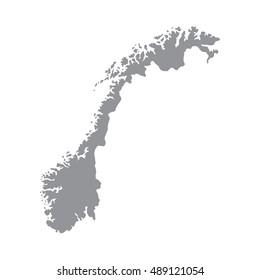 Norway map gray