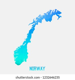 Norway map low poly geometric polygonal,mosaic style,abstract tessellation,modern design background. Geometric cover, mockup. Vector illustration EPS10.