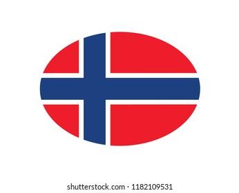 Norway national flag circle shape country emblem states symbol