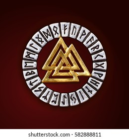 Norway Pagan Amulet Pattern Vikings Necklace  Odin's Symbol of Norse