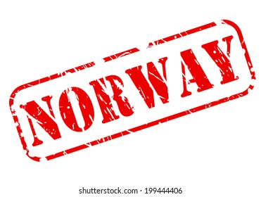 NORWAY red stamp text on white background