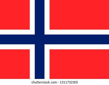 Norway vector flag. Oslo