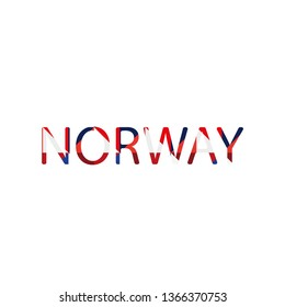 Norway word text with fresh colorful blue and white texture