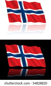 Norwegian Flag Flowing