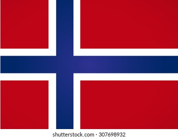 Norwegian flag. Vector art.