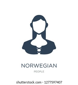norwegian icon vector on white background, norwegian trendy filled icons from People collection, norwegian vector illustration