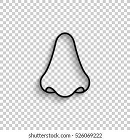 Nose - white vector