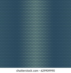 Nostalgia halftone patterns - green and blue colors, seamless vector pattern with fading retro comics and manga texture style