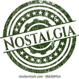Nostalgia rubber stamp with grunge texture