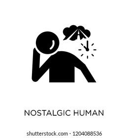 nostalgic human icon. nostalgic human symbol design from Feelings collection. Simple element vector illustration on white background.
