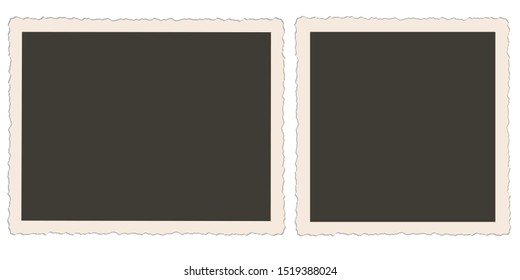 Nostalgic photo frames vector illustration