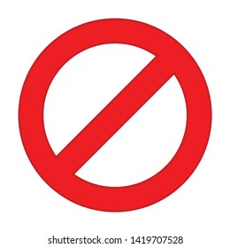 Not Allowed icon. flat illustration of Not Allowed vector icon for web