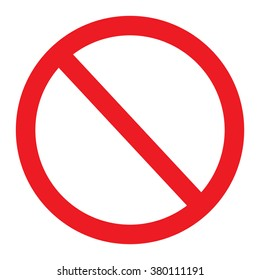 Not allowed sign, No Sign Vector Illustration on white background