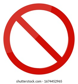 Not allowed sign on white background. Vector illustration