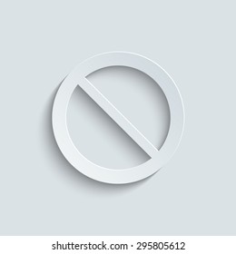 Not Allowed Sign - vector icon with shadow