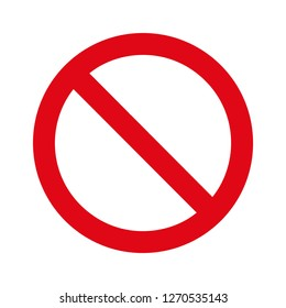 Not Allowed Sign,Prohibition Sign vector red