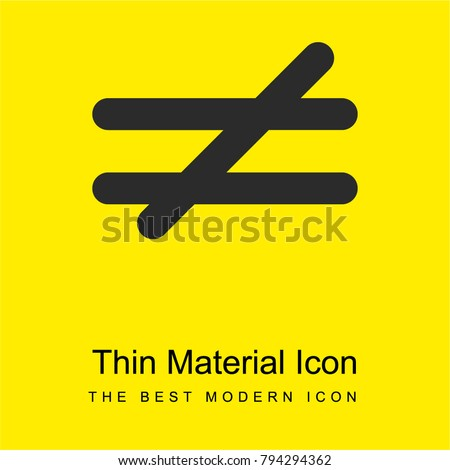 Not Equal Mathematical Symbol Bright Yellow Stock Vector Royalty