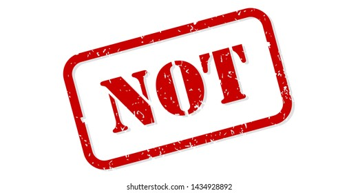Not red rubber stamp vector isolated
