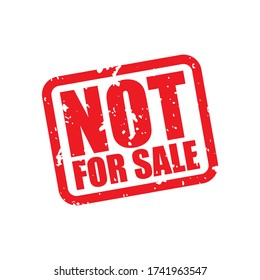 Not For Sale Grunge Label