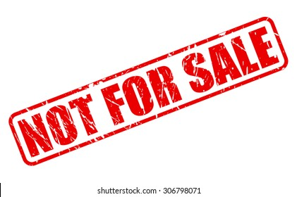 Not for sale red stamp text on white