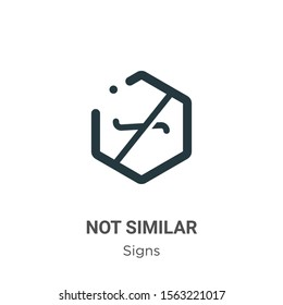 Not similar symbol vector icon on white background. Flat vector not similar symbol icon symbol sign from modern signs collection for mobile concept and web apps design.
