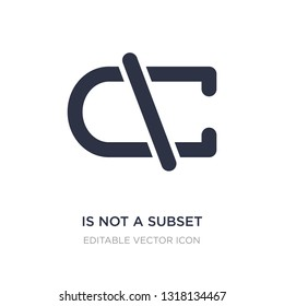 is not a subset icon on white background. Simple element illustration from Signs concept. is not a subset icon symbol design.