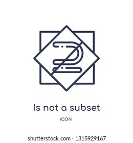 is not a subset icon from signs outline collection. Thin line is not a subset icon isolated on white background.