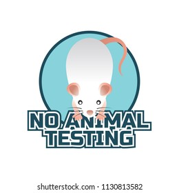 not tested on animals, cruelty free, no animal testing logo for doctor or clinic, vector illustration