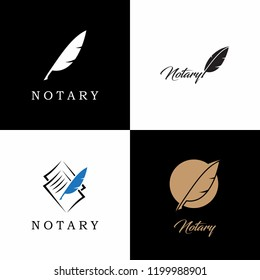 Notary Logo Collection. Vector Illustration