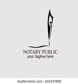 Notary public logo vector illustration