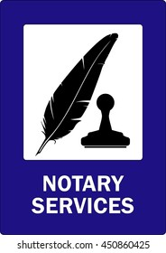 Notary public services.Vector illustration.