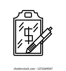 notbook icon isolated on white background, vector illustration