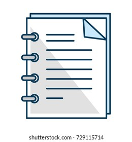 note book isolated icon