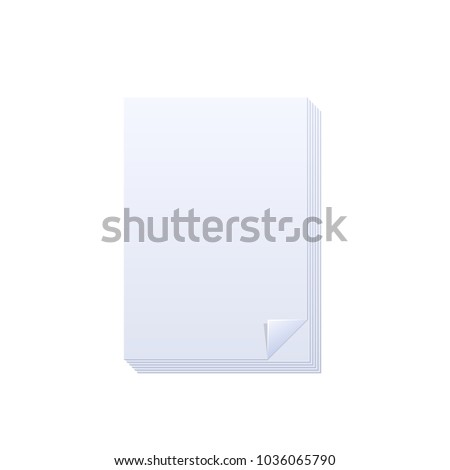 Note Book Layout Blank Pages Notebook Stock Vector Royalty Free