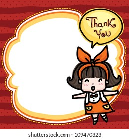 note frame girl - thank you